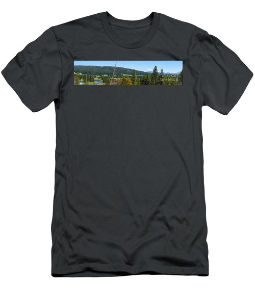 Panoramic Yellowstone Landscape Men's T-Shirt (Athletic Fit)