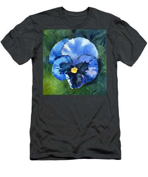Pansy Blue Men's T-Shirt (Athletic Fit)