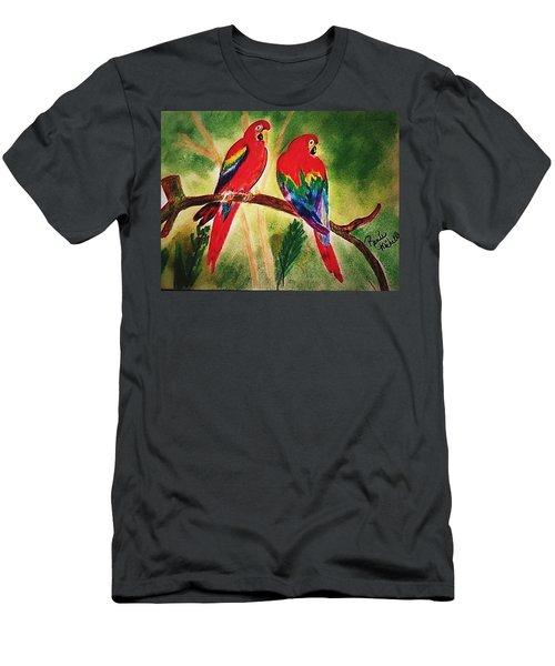 Parakeets In Paradise Men's T-Shirt (Athletic Fit)
