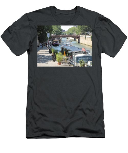 Paris - Seine Scene Men's T-Shirt (Slim Fit) by HEVi FineArt