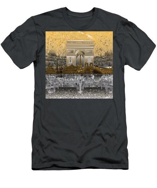 Paris Skyline Landmarks 5 Men's T-Shirt (Athletic Fit)