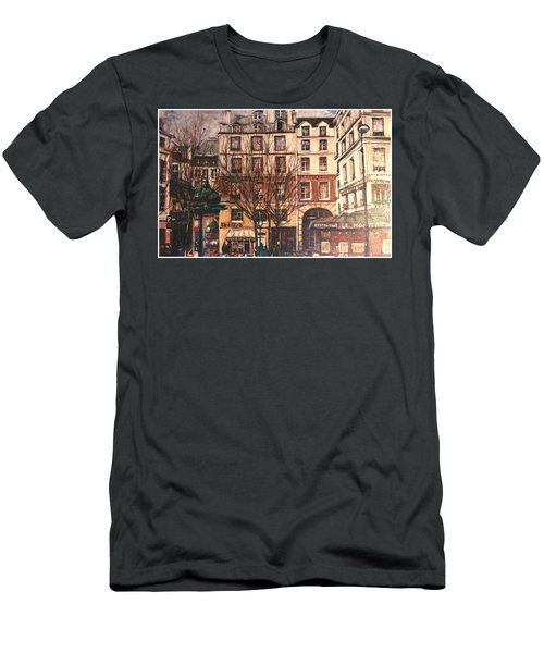 Men's T-Shirt (Slim Fit) featuring the painting Paris by Walter Casaravilla