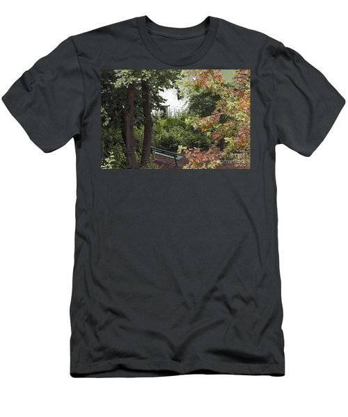 Men's T-Shirt (Slim Fit) featuring the photograph Park Bench by Kate Brown