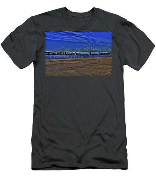 Men's T-Shirt (Slim Fit) featuring the photograph Parkersburg Point Park by Jonny D