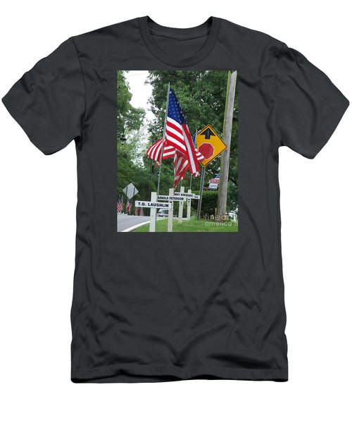 Men's T-Shirt (Slim Fit) featuring the photograph Past Heros by Marilyn Zalatan
