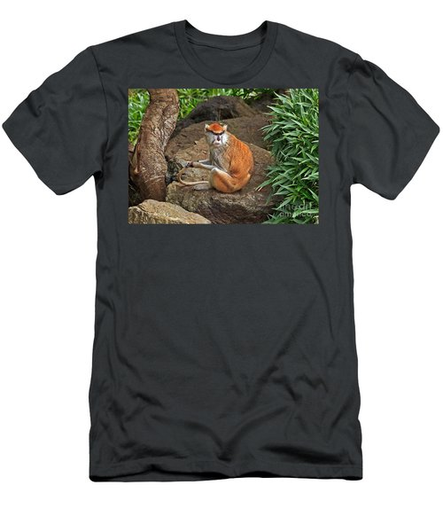 Men's T-Shirt (Slim Fit) featuring the photograph Patas Monkey by Kate Brown