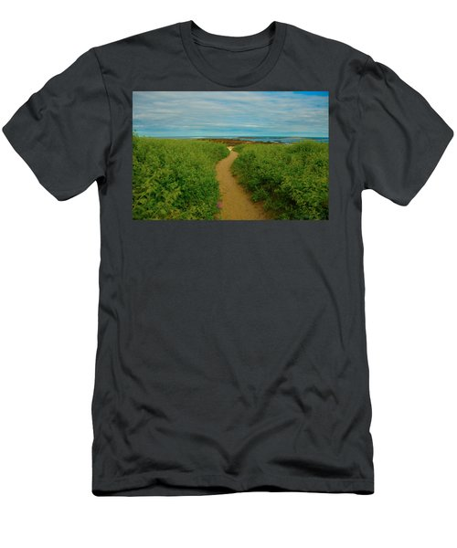 Path To Blue Men's T-Shirt (Athletic Fit)