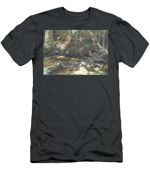 Men's T-Shirt (Slim Fit) featuring the painting Peace At Darby by Lori Brackett
