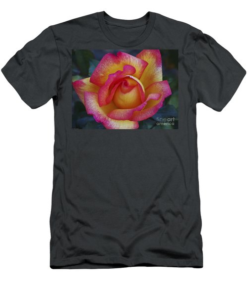 Peace In Floral Format Men's T-Shirt (Slim Fit) by Kathy McClure