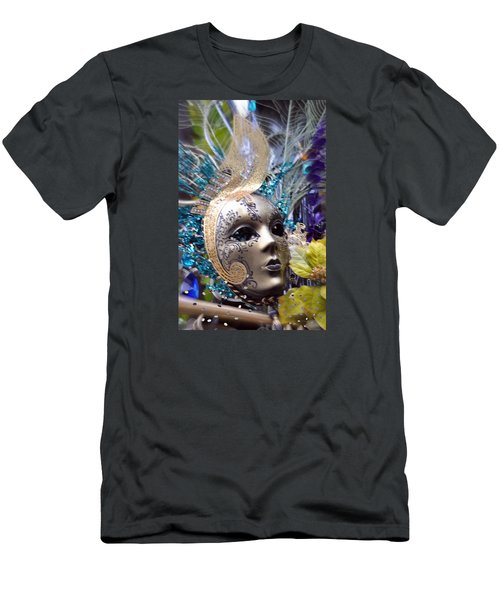 Men's T-Shirt (Slim Fit) featuring the photograph Peace In The Mask by Amanda Eberly-Kudamik