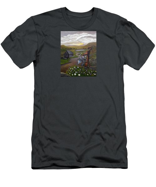 Peace In The Valley Men's T-Shirt (Slim Fit) by Sheri Keith
