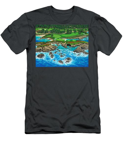 Pebble Beach 15th Hole-north Men's T-Shirt (Athletic Fit)