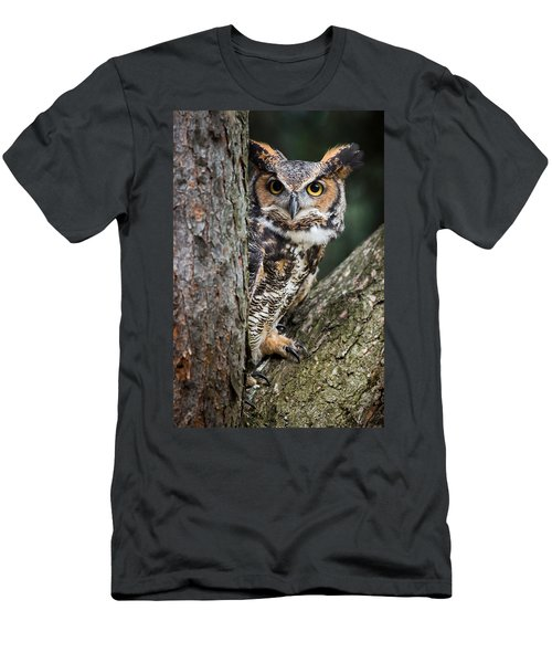 Peering Out Men's T-Shirt (Athletic Fit)