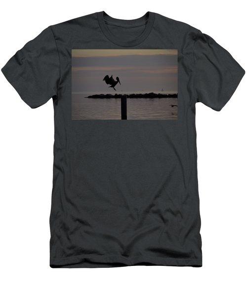 Pelican Landing Men's T-Shirt (Slim Fit) by Leticia Latocki
