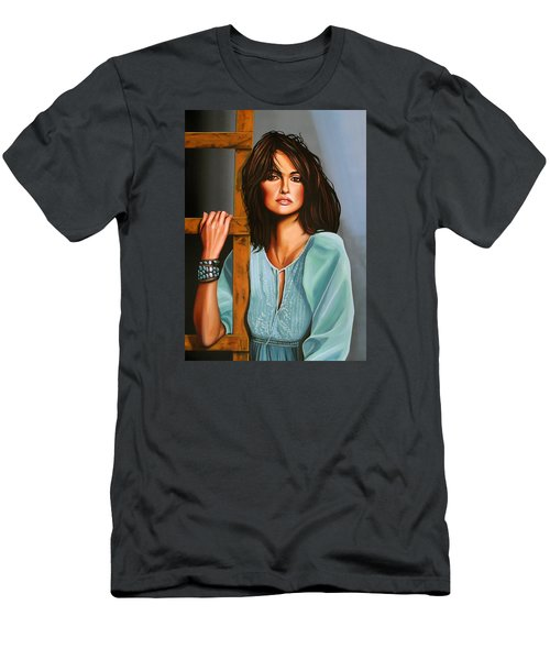 Penelope Cruz Men's T-Shirt (Slim Fit) by Paul Meijering