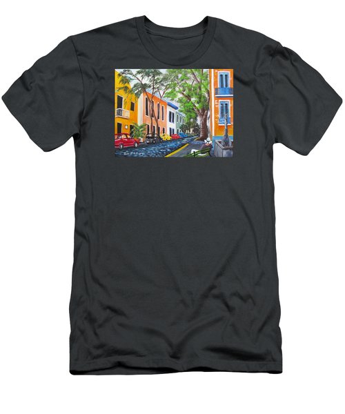 Pensando En El Viejo San Juan Men's T-Shirt (Athletic Fit)