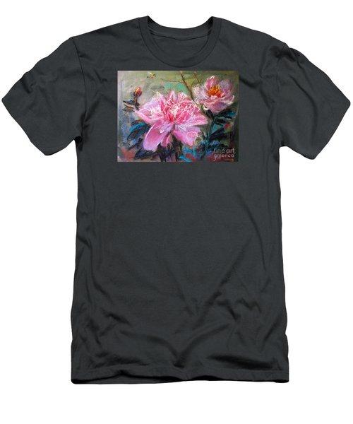 Peony Men's T-Shirt (Slim Fit) by Jieming Wang
