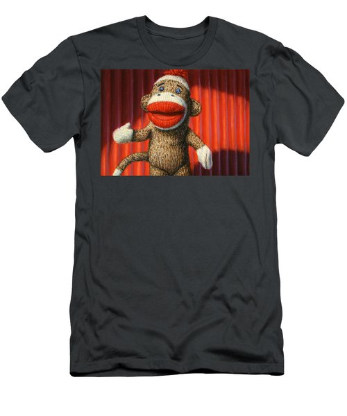 Performing Sock Monkey Men's T-Shirt (Athletic Fit)