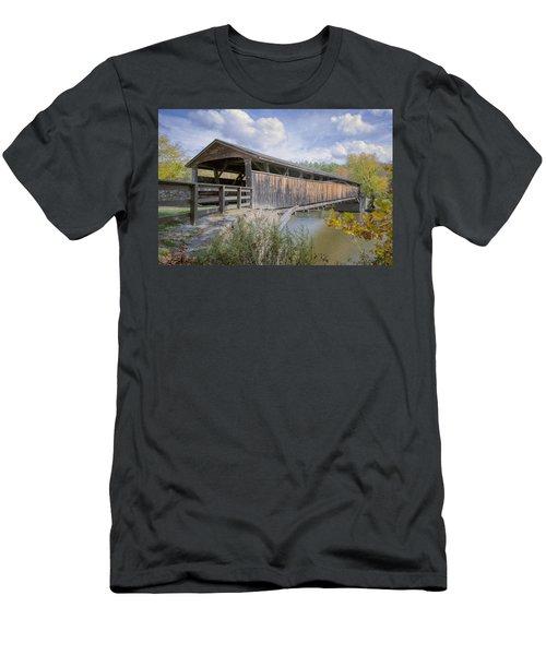 Perrine's Covered Bridge Men's T-Shirt (Athletic Fit)