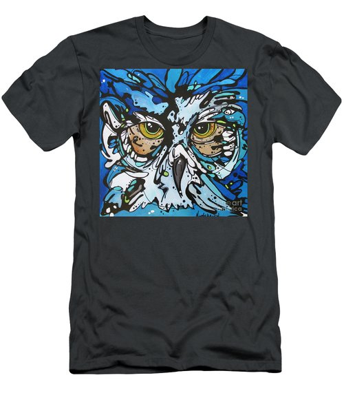 Men's T-Shirt (Slim Fit) featuring the painting Perry by Nicole Gaitan