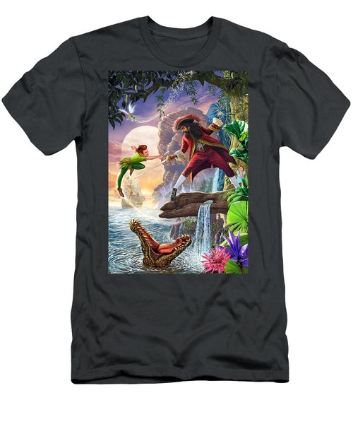 Peter Pan And Captain Hook Men's T-Shirt (Athletic Fit)
