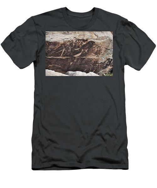 Petroglyph Bird Men's T-Shirt (Athletic Fit)