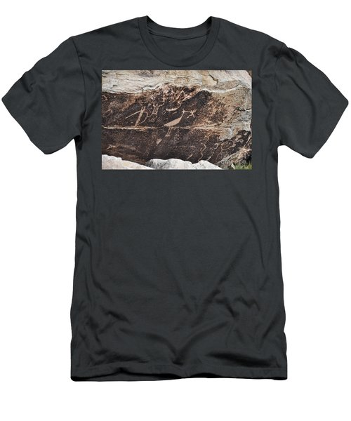 Petroglyph Bird Men's T-Shirt (Athletic Fit)