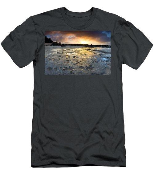 Petroglyphic Sunset Men's T-Shirt (Athletic Fit)