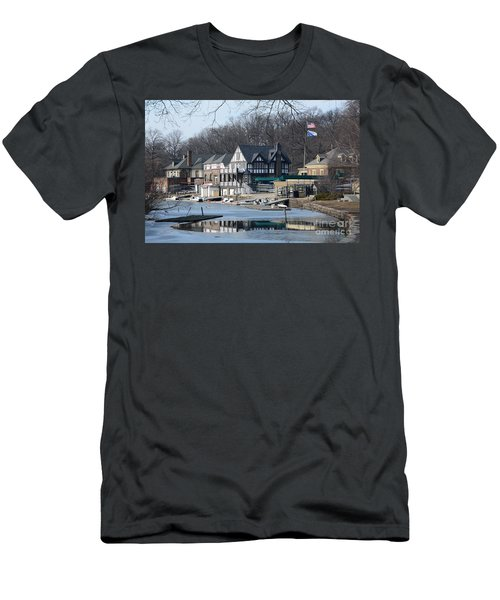 Philadelphia - Boat House Row Men's T-Shirt (Athletic Fit)