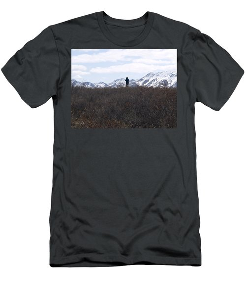 Photographing Nature   Men's T-Shirt (Slim Fit) by Tara Lynn