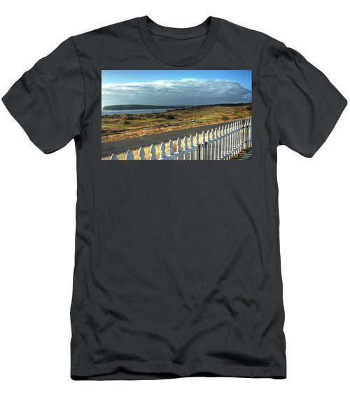 Men's T-Shirt (Slim Fit) featuring the photograph Picket Fence - Chambers Bay Golf Course by Chris Anderson