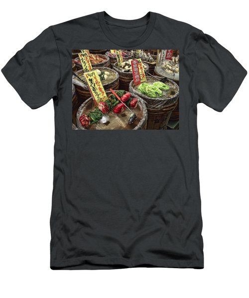 Pickled Vegetables Street Vendor - Kyoto Japan Men's T-Shirt (Athletic Fit)