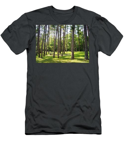 Picnic In The Pines Men's T-Shirt (Athletic Fit)