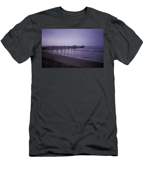 Pier At Dusk Men's T-Shirt (Athletic Fit)