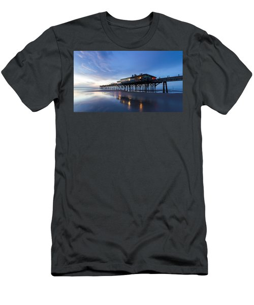 Pier At Twilight Men's T-Shirt (Athletic Fit)