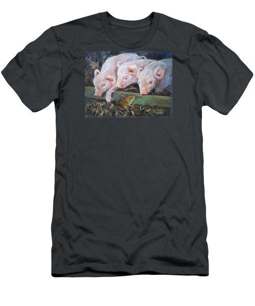 Pigs Vs Mouse Men's T-Shirt (Slim Fit) by Jieming Wang