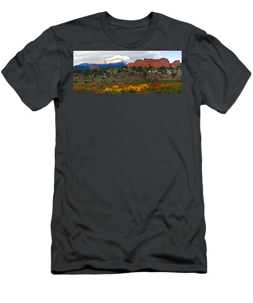 Pikes Peak Fall Pano Men's T-Shirt (Athletic Fit)