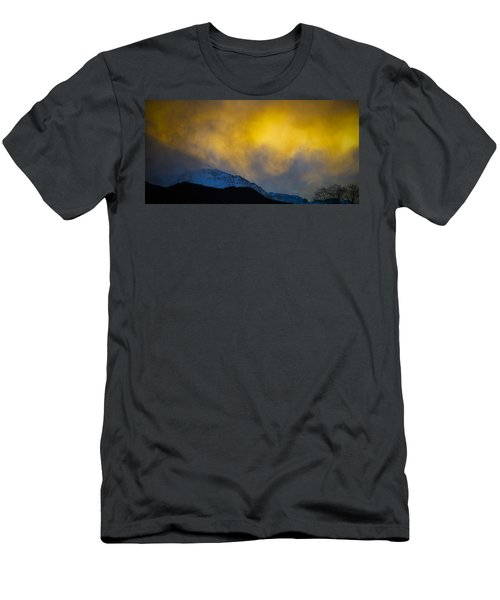 Pike's Peak Snow At Sunset Men's T-Shirt (Athletic Fit)