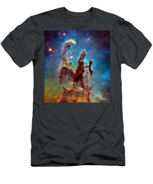 Pillars Of Creation In High Definition - Eagle Nebula Men's T-Shirt (Athletic Fit)