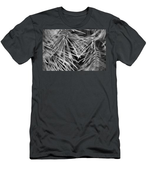 Pine Needle Abstract Men's T-Shirt (Slim Fit) by Susan Stone