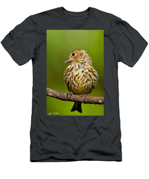 Pine Siskin With Yellow Coloration Men's T-Shirt (Athletic Fit)