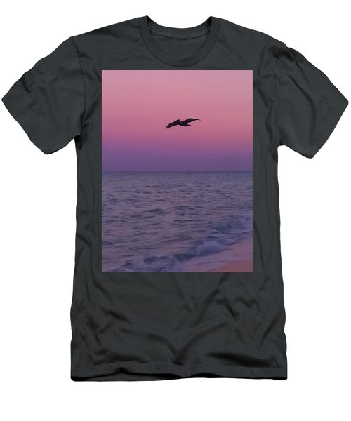 Pink Beach Sunset Men's T-Shirt (Athletic Fit)