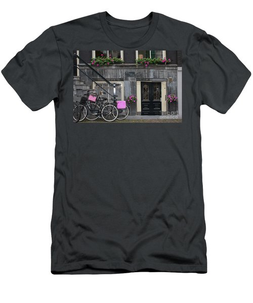 Pink Bikes Of Amsterdam Men's T-Shirt (Athletic Fit)