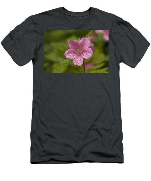 Pink Droplets Men's T-Shirt (Athletic Fit)