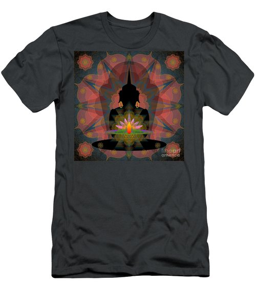 Pink Lotus Buddha Men's T-Shirt (Athletic Fit)