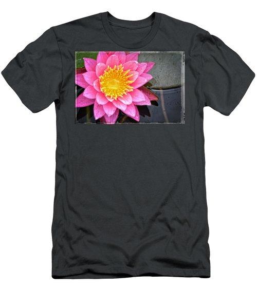 Pink Lotus Flower - Zen Art By Sharon Cummings Men's T-Shirt (Athletic Fit)