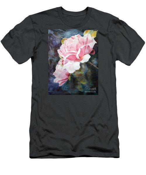 Pink Rose Caroline Men's T-Shirt (Slim Fit) by Greta Corens