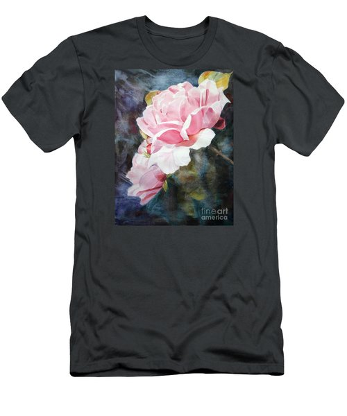 Pink Rose Caroline Men's T-Shirt (Athletic Fit)