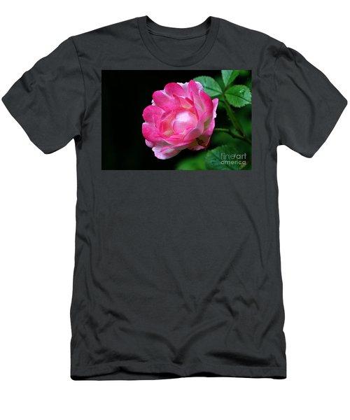 Pink Rose Men's T-Shirt (Athletic Fit)