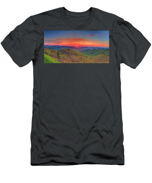 Pink Sunrise At Skyline Drive Men's T-Shirt (Athletic Fit)